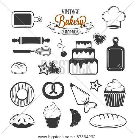 Vintage bakery elements