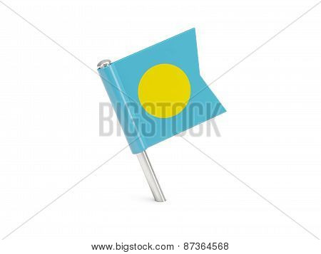 Flag Pin Of Palau