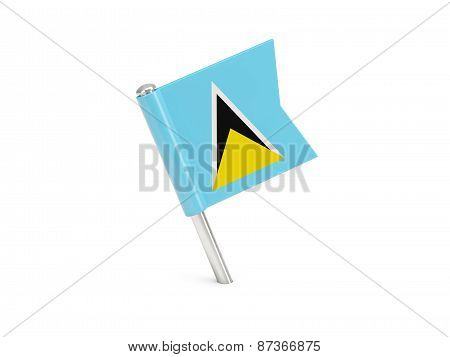 Flag Pin Of Saint Lucia