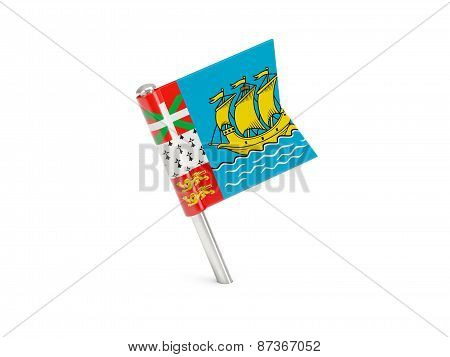 Flag Pin Of Saint Pierre And Miquelon