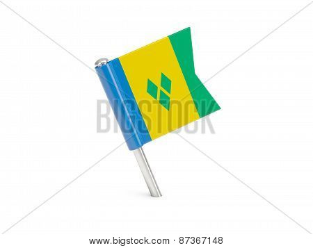 Flag Pin Of Saint Vincent And The Grenadines