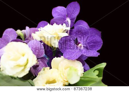 Bouquet With Purple Orchids, Flower