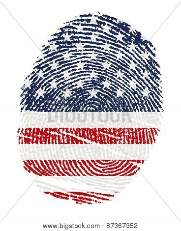 Usa Flags In The Form Of Fingerprints