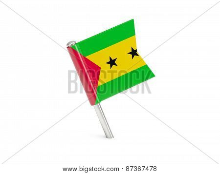 Flag Pin Of Sao Tome And Principe