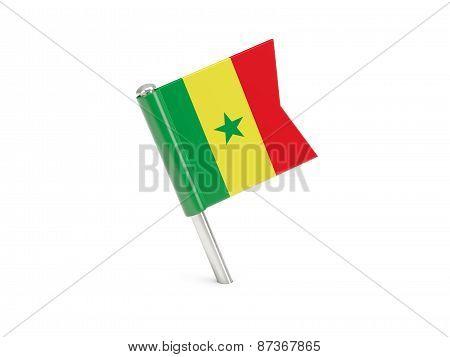 Flag Pin Of Senegal