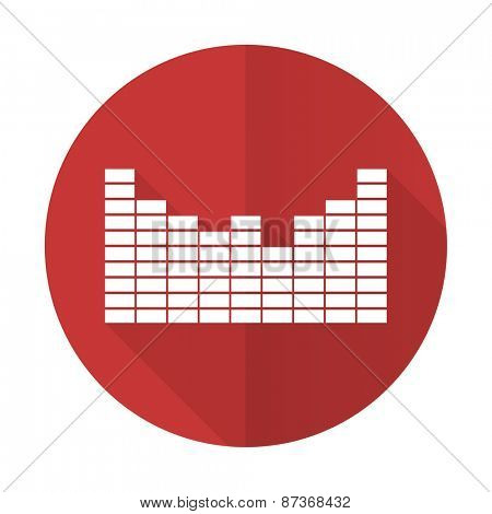 sound red flat icon