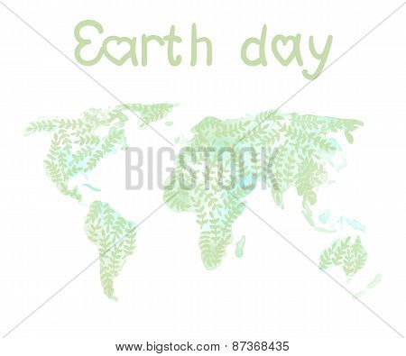 Earth day global map