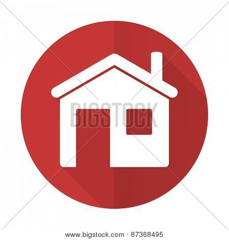 house red flat icon home sign