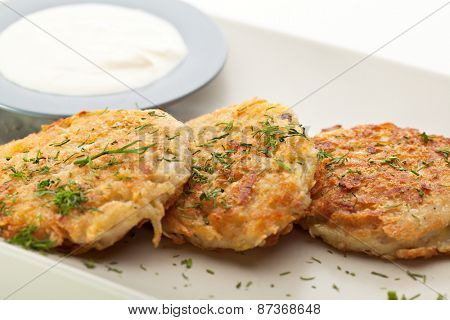 Potato Pancake with Sour Cream and Dill