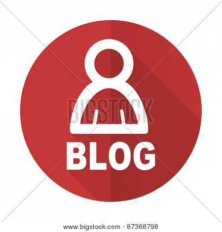 blog red flat icon