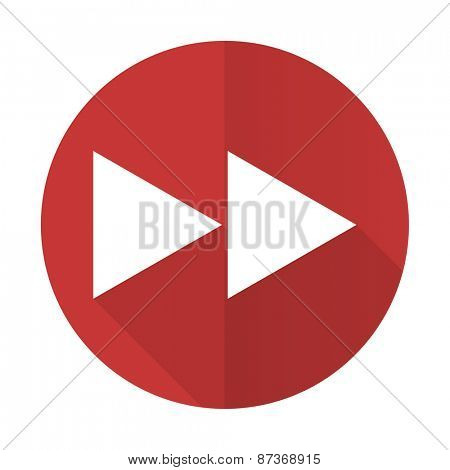 rewind red flat icon