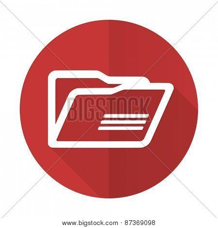 folder red flat icon