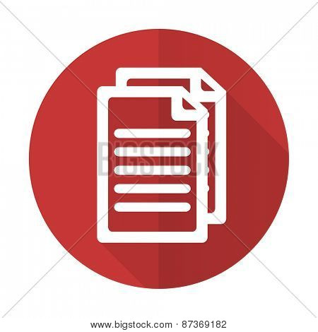 document red flat icon pages sign