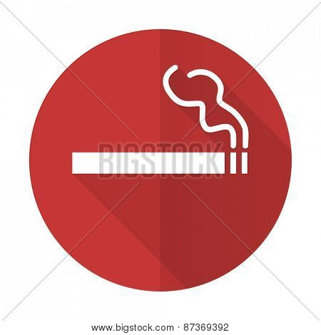 cigarette red flat icon nicotine sign