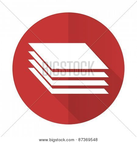 layers red flat icon gages sign