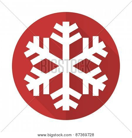 snow red flat icon air conditioning sign