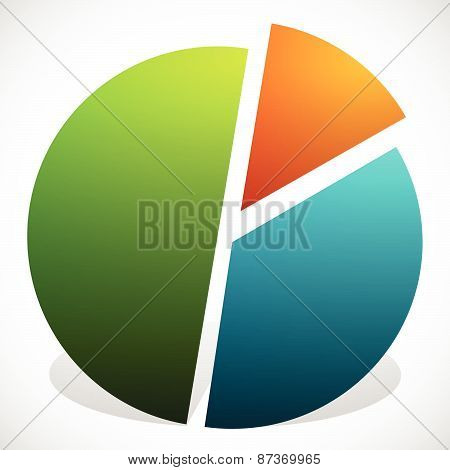 Pie Chart Vector Graphics. Pie Chart, Pie Graph Element