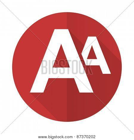 alphabet red flat icon