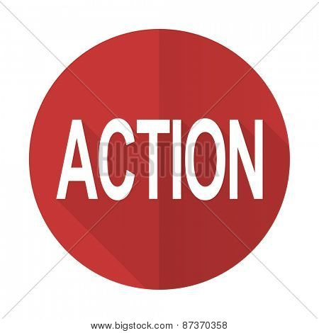 action red flat icon