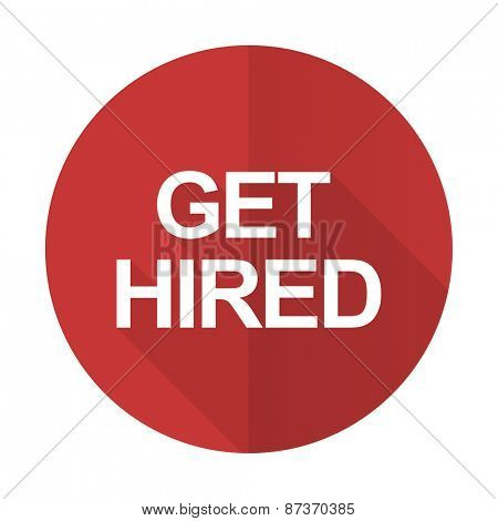 get hired red flat icon