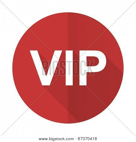 vip red flat icon