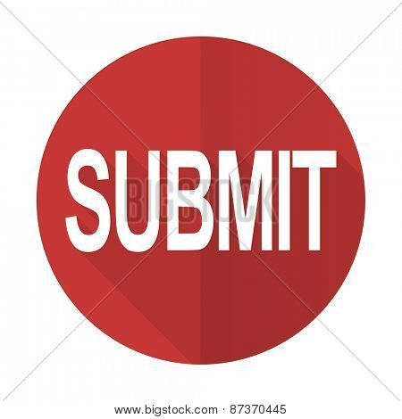 submit red flat icon