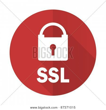 ssl red flat icon