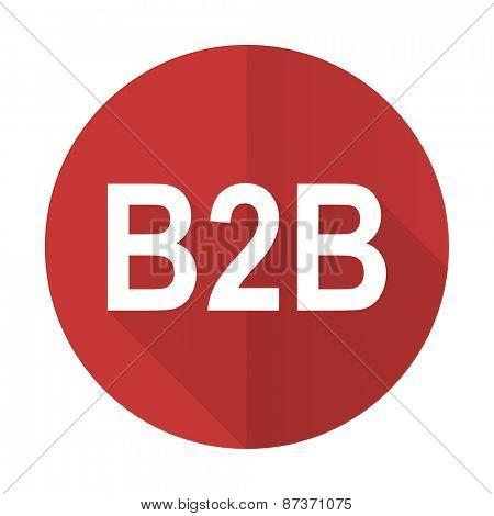 b2b red flat icon