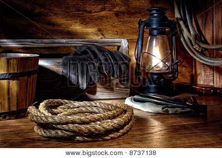 American West Rodeo Cowboy Ranching Rope