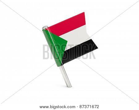 Flag Pin Of Sudan