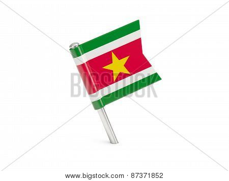 Flag Pin Of Suriname