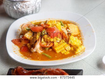 Dish Of Spicy Fruit Salad