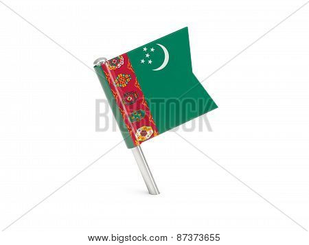 Flag Pin Of Turkmenistan