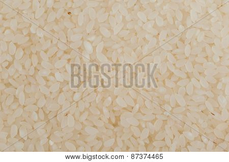 Uncooked Risotto Sushi Rice Texture Background