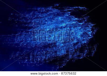 Blue Colorful Fireworks