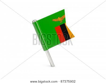 Flag Pin Of Zambia