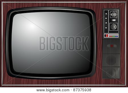 Vector - Retro Tv, Illustration