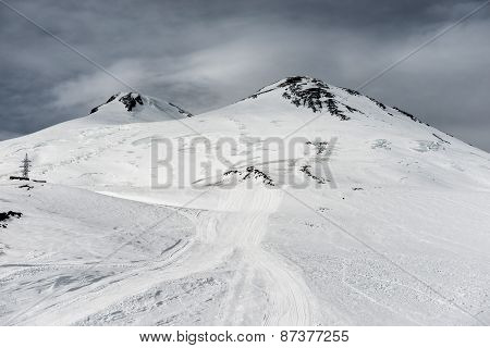 Elbrus In Snow