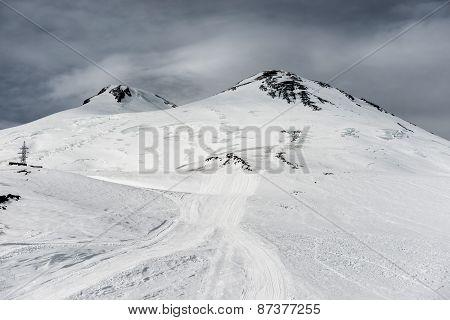 Elbrus In Snow