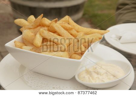 French Fries with Aioli Mayonaise Dip Meal