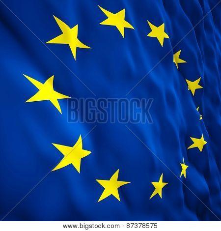 3d illustration of european flag