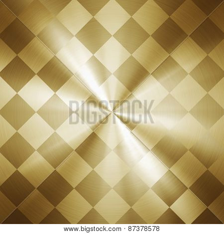 golden metal pattern background