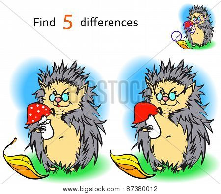 Find 3 differences hedgehog