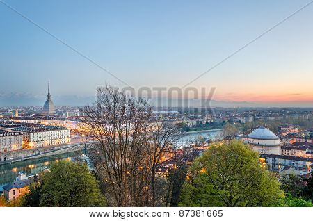 Turin (torino), Skyline At Sunrise