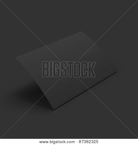 Curved page. Business mockup template.