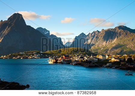 Scenic town of Reine  village, Lofoten islands, Norway