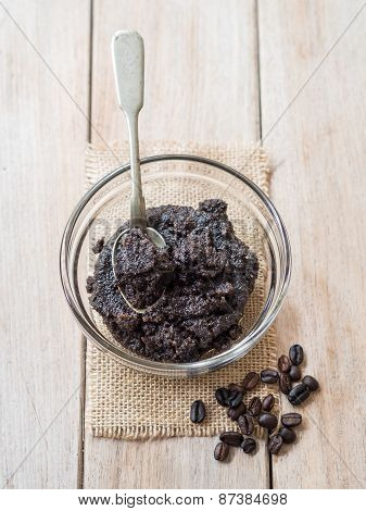 Organic all natural coffee scrub