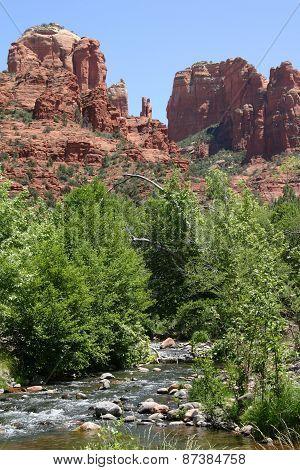 Cathdral Rock with creek Sedona Arizona