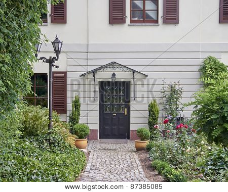 House entrance in Altenburg Thuringia Germany