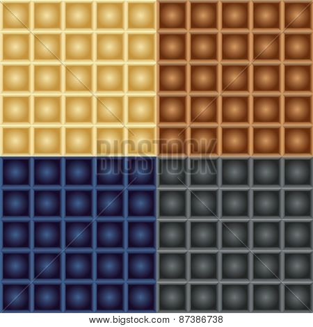 Seamless Patterns Of Squares With Balls